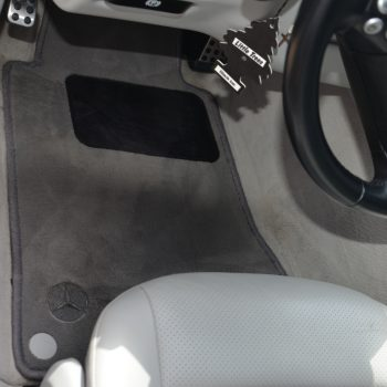 Mercedes driver foot well after interior car detailing by Time Saving Auto Detail