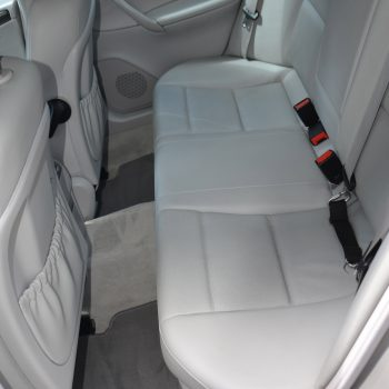 Beautiful - like new rear seat car interior after mobile car detailing by Time Saving Car Detail - Newton MA