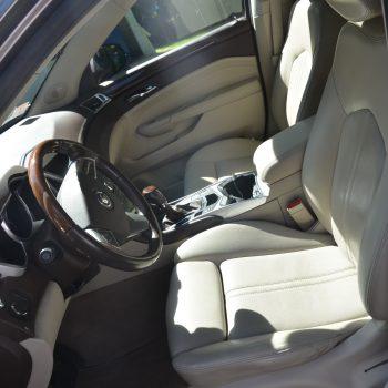 Interior of Maserati after mobile car detailing