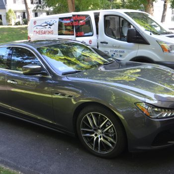 Shining clean Maserati after detiling by Time Saving Auto Detail of Newton MA