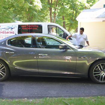 Maserati after mobile car detailing